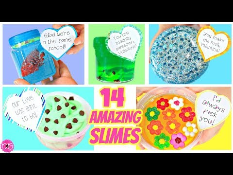 14 AMAZING SLIMES For Valentine's Day!