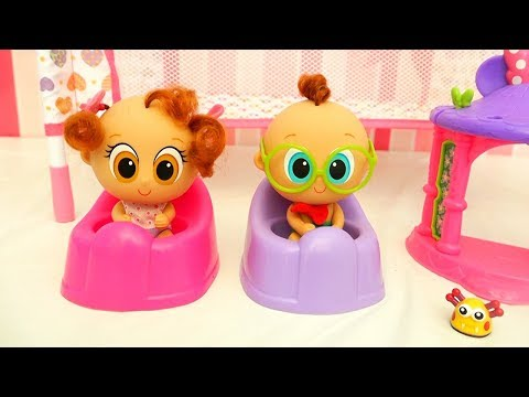 Churro and Atole the New Babies in the Nursery ! Toys and Dolls Fun Making DIY Baby Room