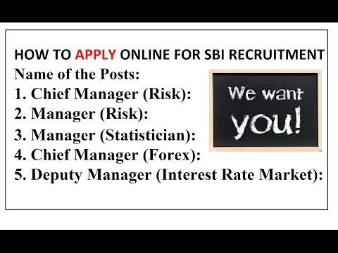How to Apply Online for SBI BANK Manager   2017