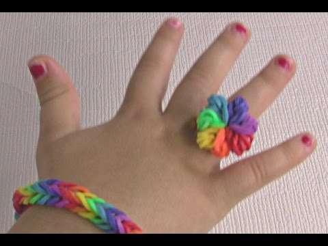 How to make rainbow Ring with rubber band