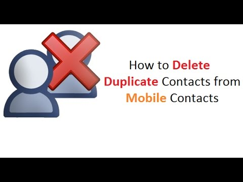 How to delete Duplicate Contacts in Mobile