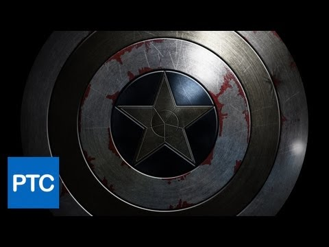 WINTER SOLDIER Movie Poster Photoshop Tutorial - Recreate the Captain America Shield in Photoshop