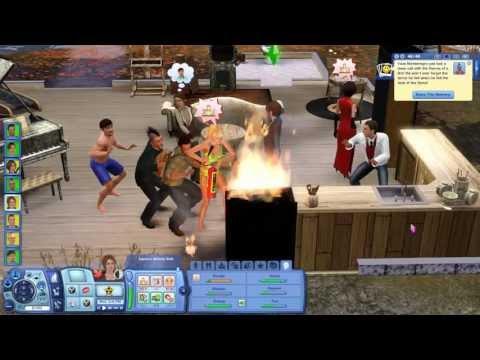 The Sims 3 - Desafio do Hospício Insano (Ep. 7) - Joel vira Smurf e mais um incêndio!