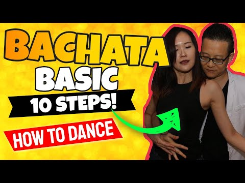 10 Basic Figures of Bachata - How To Bachata Dance For Beginners - Basico Figuras de bachata