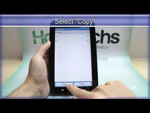 How to Export the Contacts on Samsung GALAXY Tab