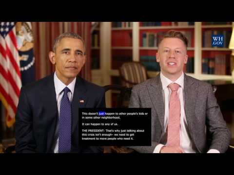 President Obama -  May 14th, 2016 - Video Caption - A Conversation About Addiction