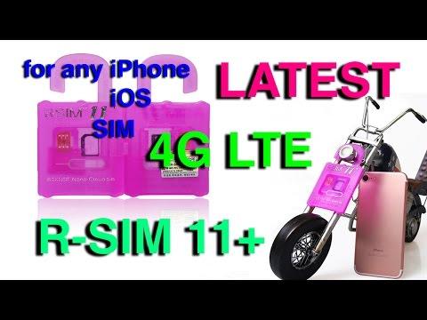 Latest R-SIM 11+ Plus iPhone 7 6 5 Unlock Activate 4G LTE introducing...