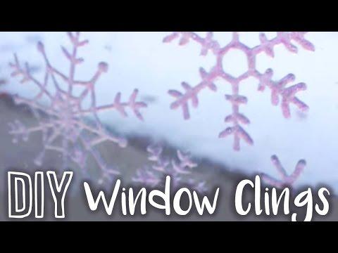 DIY Snowflake Window Clings ❄