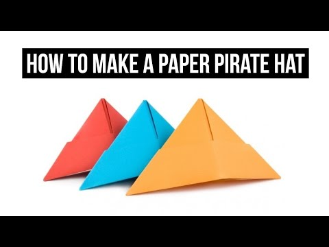 How To Make a Paper Pirate Hat | EASY