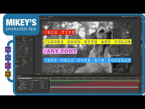 Boxed Text for Motion Graphics After Effects Tutorial