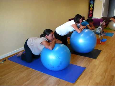 How to use yoga ball for pregnancy and labor by Penni Thorpe