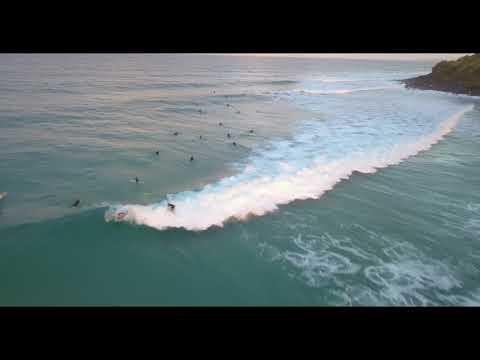Burleigh Heads Waves and Sunset