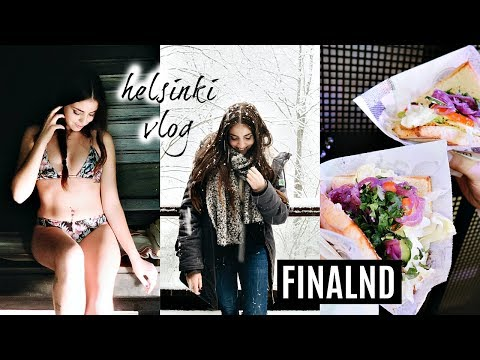 SAUNA, VEGAN FOOD & CHRISTMAS MARKET IN HELSINKI! // FINLAND TRAVEL VLOG