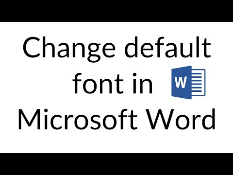 How to change default font in MS WORD 2007,2010,2013 to TImes New Roman and font size 12