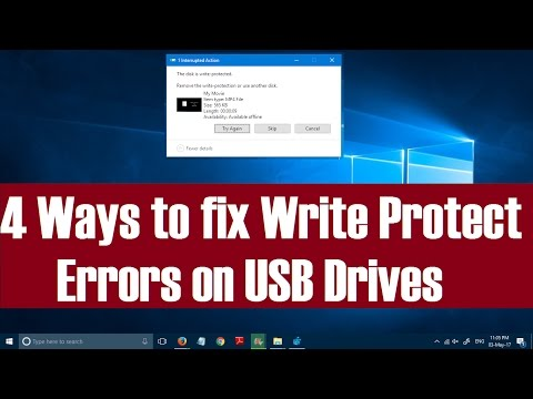 4 Ways to fix Write Protected Errors on USB Drives in Windows 10