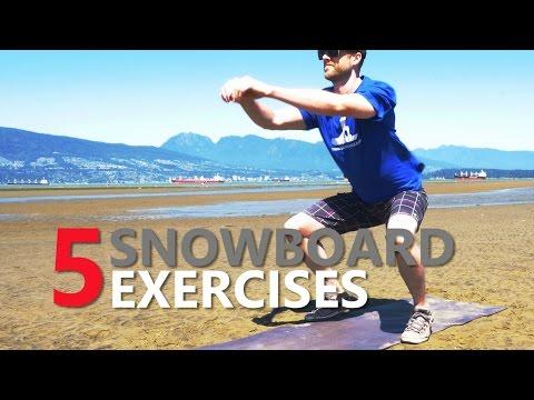 5 Snowboard Exercises for Beginner Training