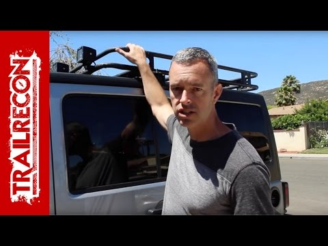 Smittybilt Defender Roof Rack - 3 Month Review - Light Wire Routing