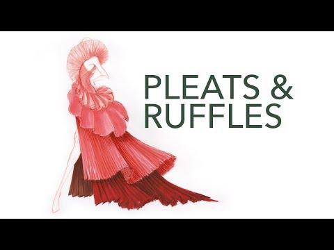 Fashion Design & Illustration Tutorial: Pleats & Ruffles
