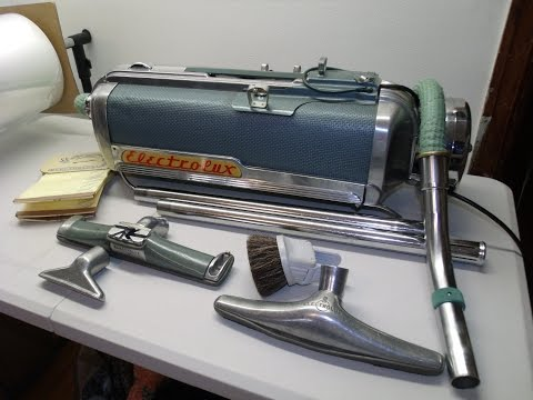 Vintage Electrolux Vacuum Model LX w/ Attachments, Hose, Bags Working Condition