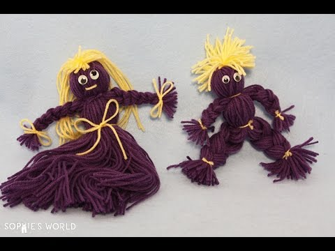 How to Make Yarn Dolls   Sophie's World