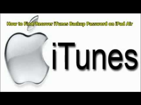 How to Find/Recover iTunes Backup Password on iPad Air
