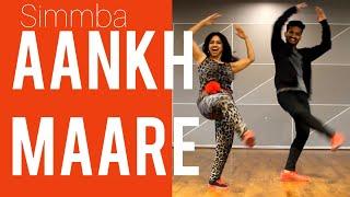 #aankhMAARE #SIMMBA AANKH MAARE/ BOLLYWOOD DANCE/ RANVEER SINGH/ SARA ALI KHAN/ EASY STEPS/ RITU