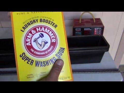 Gun rust removal ELECTROLYSIS part #1
