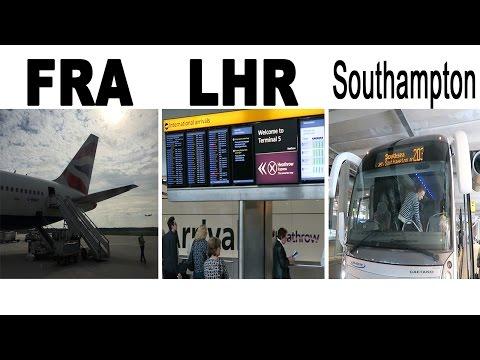 Boarding Frankfurt Airport (Terminal 2) to London Heathrow - Bus to Southampton