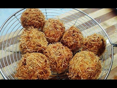 Bird Nest Potato and Chicken Balls - Chirya Ghonsla