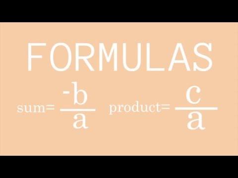 Sum and Product of Quadratic Equations