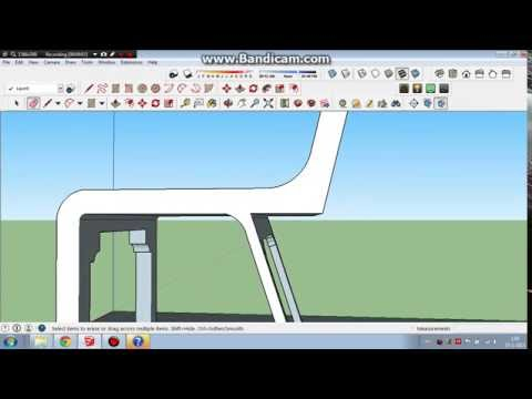 How To Make Chair in Sketchup step 1