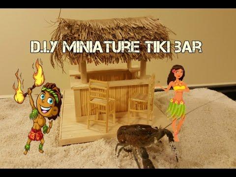 DIY Miniature Tiki Bar