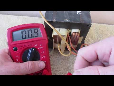 How to test Microwave Transformer Multimeter testing Primary Secondary oven HV