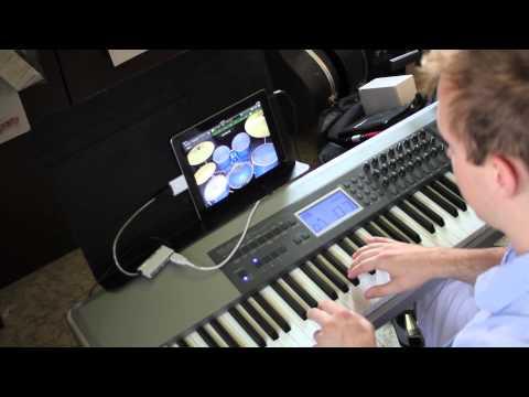 Using a MIDI keyboard with iPad via USB