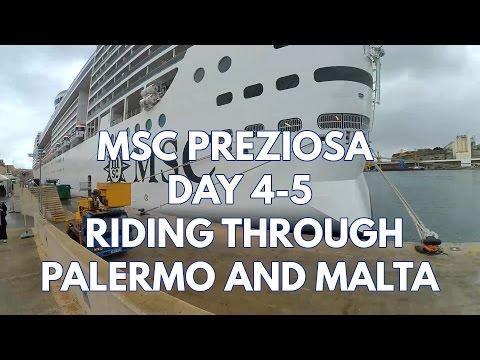MSC PREZIOSA CRUISE | DAYS 4-5: RIDING THROUGH PALERMO & MALTA