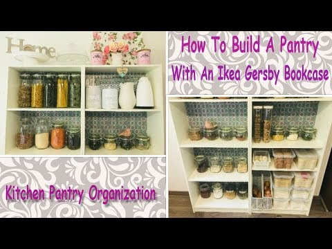 Kitchen Pantry Organization (How To Build A Pantry With An Ikea Gersby Bookcase) Kitchen Pantry DIY