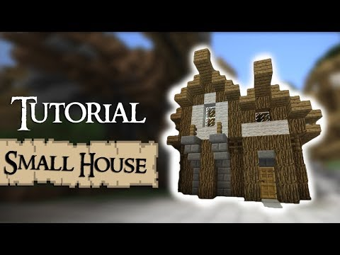 Minecraft Tutorial: How to build a small medieval house