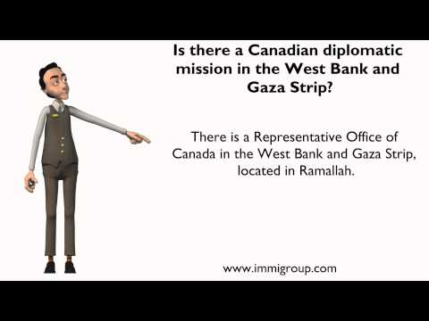 Is there a Canadian diplomatic mission in the West Bank and Gaza Strip?