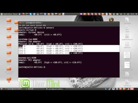 check CPU temperature in Linux Mint 14