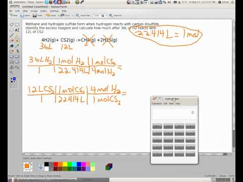 Excess Reagent Calculation | How Much Excess Remains | whitwellhigh.com