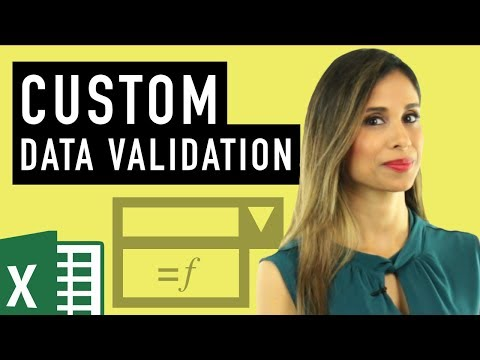 Excel Custom Data Validation (Check for text, numbers & length)