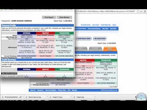 How To Import and Extract A Credit Report