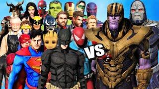 SUPERHEROES vs VILLAINS  -  The Avengers, X-Men, Guardians, Justice League vs Thanos and Darkseid