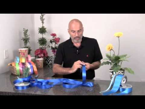 How to tie a floral bow for a potted plant