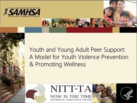 Youth and Young Adult Peer Support: A Model for Youth Violence Prevention & Promoting Wellness