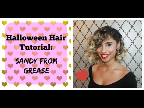 Halloween Hair Tutorial- Sandy from Grease!