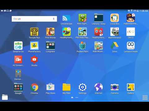 Remove Shortcuts and Uninstall Apps - Samsung Tab for Edu