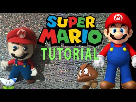 HOW TO MAKE SUPER MARIO BROS  TUTORIAL  | CLAY CRAFT  DIY | FIGURINE | Cup n Cakes Gourmet