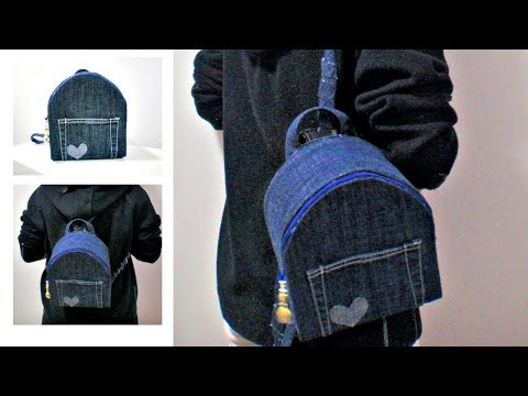 DIY No Sew Backpack from Old Jeans * How to Make Your Own Backpack at Home