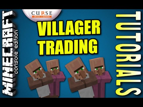 MINECRAFT - PS4 - VILLAGER TRADING - HOW TO - TUTORIAL ( PS3 / XBOX /PC )  UPDATE